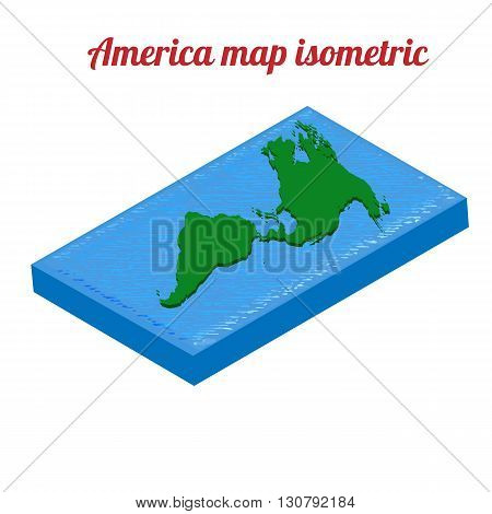 America map isometric. America map object. America map icon. America map infographic. America map clean. America map art. America map blank. America map vector. America map flat. America map template.