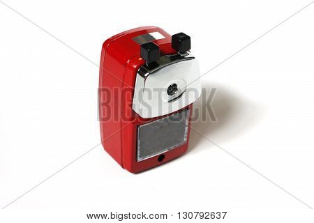 sharpener of pencil on a white background.