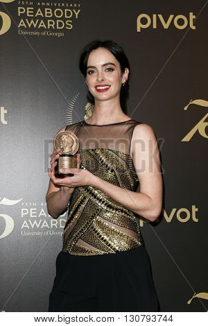 NEW YORK-MAY 21: Krysten Ritter attends the 75th Annual Peabody Awards Ceremony at Cipriani Wall Street on May 21, 2016 in New York City.