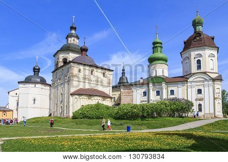 Kirillov, Russia - May 28: Kirillo-Belozersky Monastery. This is group of monastery's churchs May 28m 2013 in Kirillov, Russia.