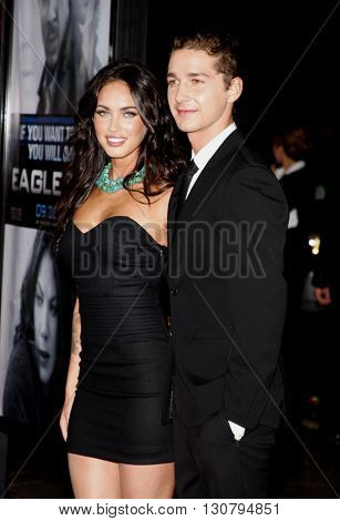 Megan Fox and Shia LaBeouf at the Los Angeles premiere of 'Eagle Eye' held at the Grauman's Chinese Theater in Hollywood, USA on September 16, 2008.