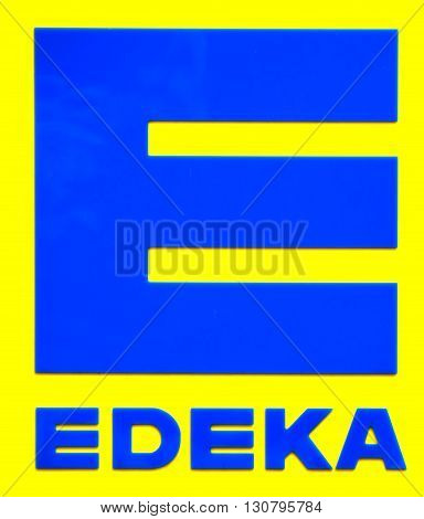 ROSTOCK, GERMANY - MAY 12, 2016: Edeka Marken-Discount supermarket. The Edeka Group is the largest German supermarket corporation.