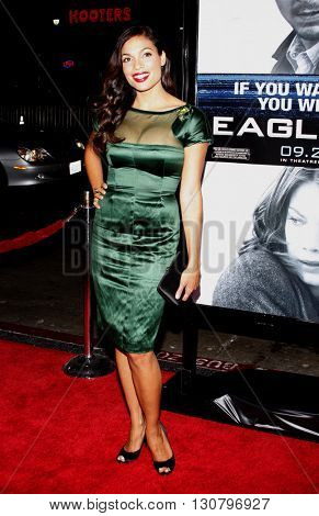Rosario Dawson at the Los Angeles premiere of 'Eagle Eye' held at the Grauman's Chinese Theater in Hollywood, USA on September 16, 2008.