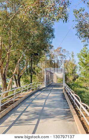Trail To Bridge Walkway