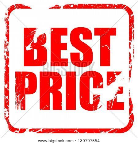 best price, red rubber stamp with grunge edges