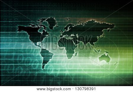 Global Science and Medical Abstract Background Art