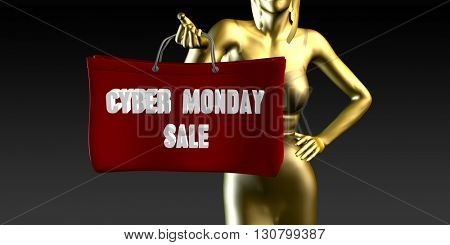 Cyber Monday Sale or Sales as a Special Event 3d Illustration Render