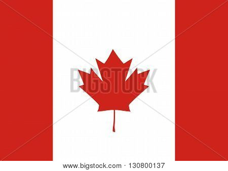 Flag of Canada. Flat design style. Vector illustration.