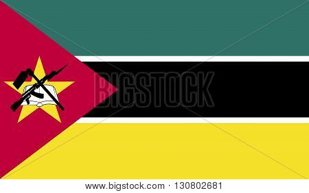 Mozambique flag image for any design in simple style