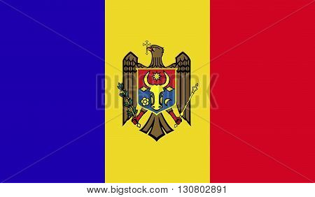 Moldova flag image for any design in simple style