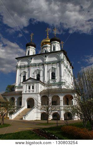 Assumption Cathedral in Joseph-Volokolamsk Monastery. Russia, Moscow region, Teryaevo
