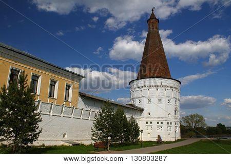 Tower in Joseph-Volokolamsk Monastery. Russia, Moscow region, Teryaevo