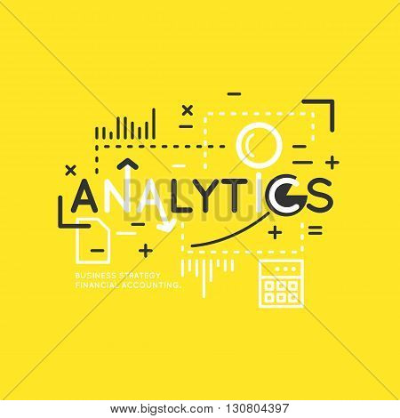 Business infographic data analytics. Bright modern vector illustration of Analytics and statistics.