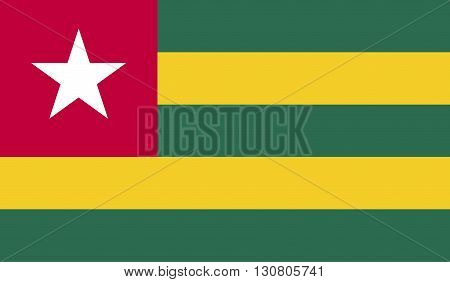 Togo flag image for any design in simple style