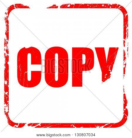 copy sign background, red rubber stamp with grunge edges