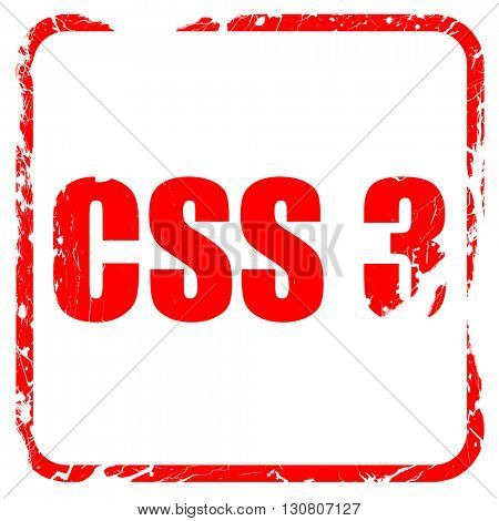 css 3, red rubber stamp with grunge edges
