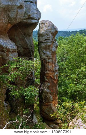 Devil's Smokestack in the Garden of the Gods Wilderness in Shawnee National Forest Illinois USA