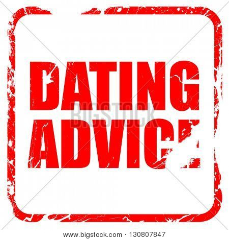 dating advice, red rubber stamp with grunge edges