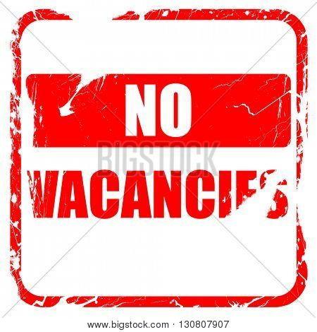 Vacancy sign for motel, red rubber stamp with grunge edges
