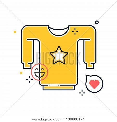 Shirt Illustration, Icon