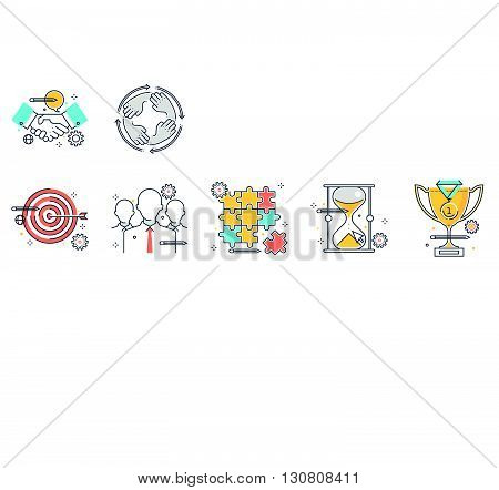 Color Line, Design Concept Illustrations, Icons