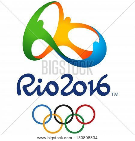 Rio de Janeiro, Brazil March 21, 2016: Official logo of the 2016 Summer Olympic Games in Rio de Janeiro, Brazil, from August 5 to August 21, 2016. Vector illustration