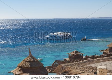 View Of The Bright Blue Sea