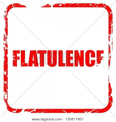 flatulence, red rubber stamp with grunge edges