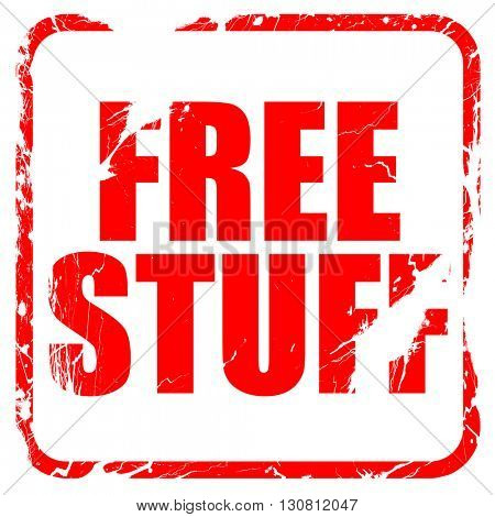 free stuff, red rubber stamp with grunge edges
