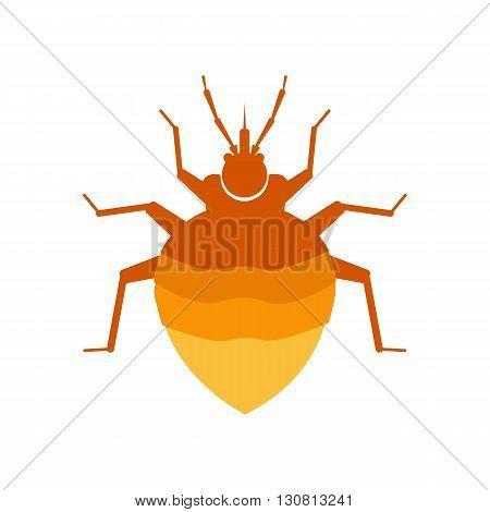 flea vector illustration. flea isolated on white background. flea vector icon illustration. flea isolated vector.