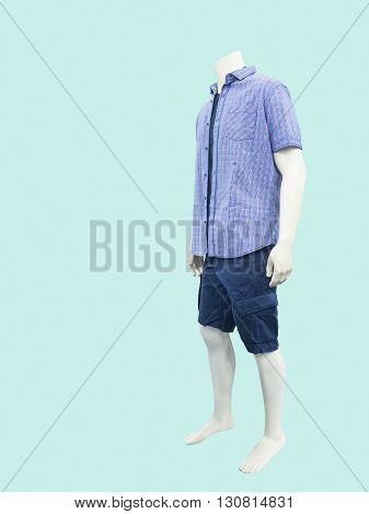 Male mannequin dressed in casual clothes isolated