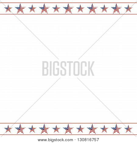 American patriotic frame with empty space on center. A traditional american poster design