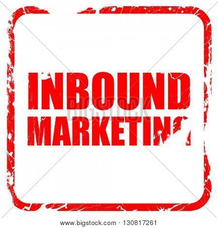 inbound marketing, red rubber stamp with grunge edges
