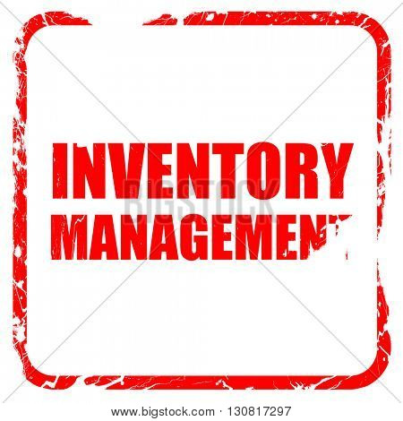 inventory management, red rubber stamp with grunge edges