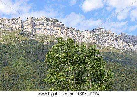 mountains of the French Alps at St Hilaire