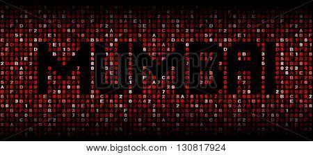 Mumbai text on hex code illustration