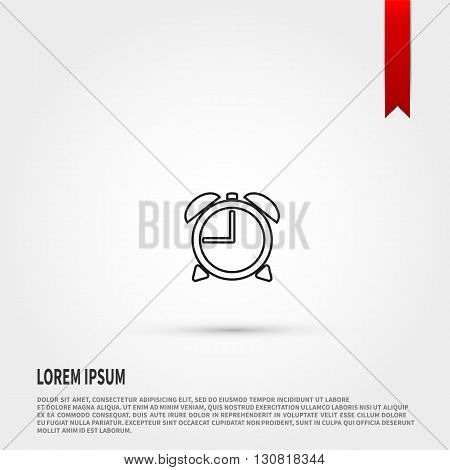 Alarm Clock icon. Alarm Clock symbol. Flat design style. Template for design.