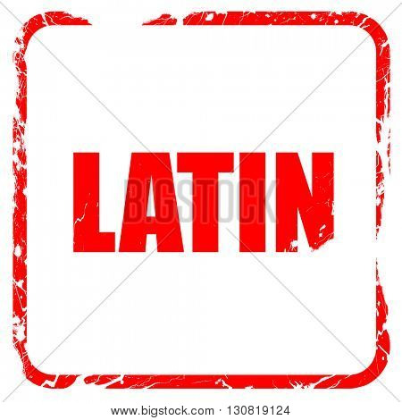latin music, red rubber stamp with grunge edges