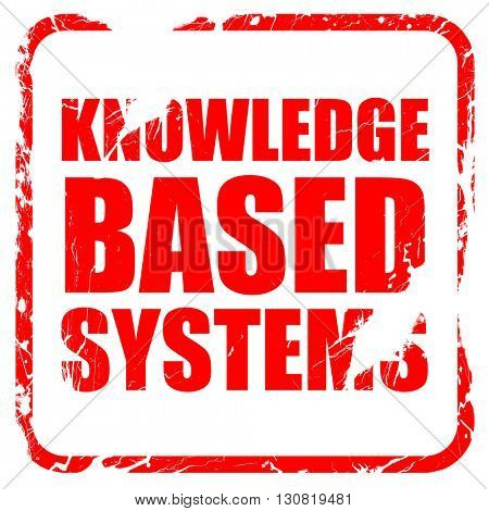 knowledge based systems, red rubber stamp with grunge edges