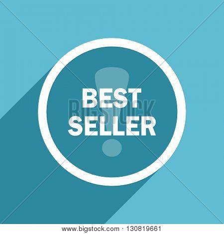 best seller icon, flat design blue icon, web and mobile app design illustration