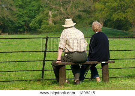 Elderly Pensioners Relaxing