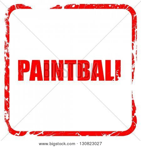 paintball, red rubber stamp with grunge edges