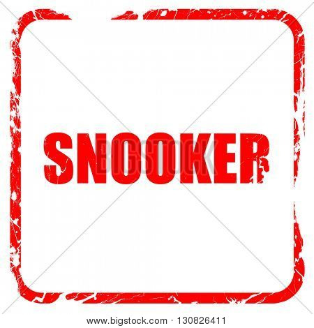 snooker sign background, red rubber stamp with grunge edges