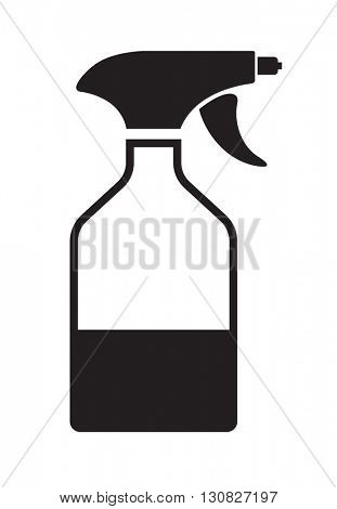 spray bottle black icon