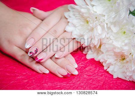 Female Manicure beauty style womens hands nail, fashion