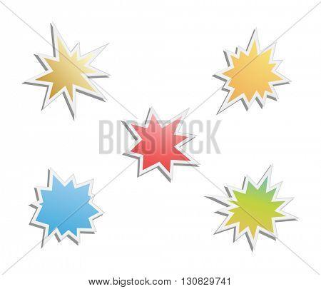 starburst - splash star icon set
