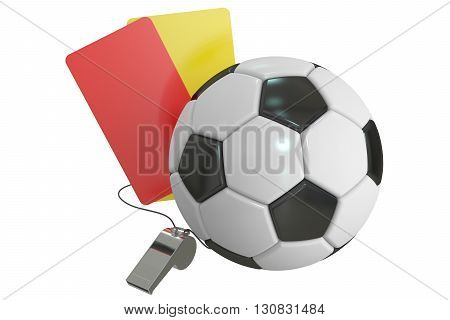Football concept 3D rendering isolated on white background