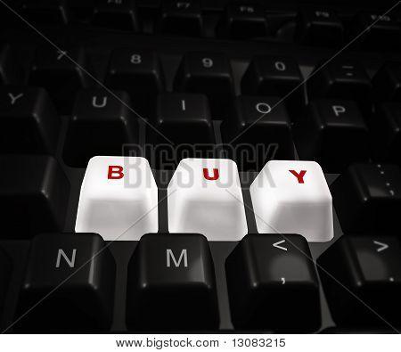 Comprar ahora de botón en un teclado