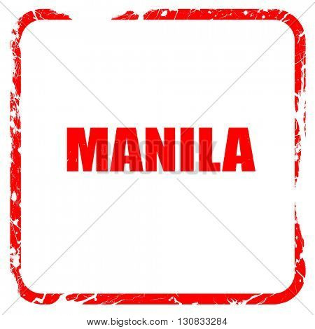 manila, red rubber stamp with grunge edges