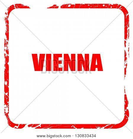 vienna, red rubber stamp with grunge edges